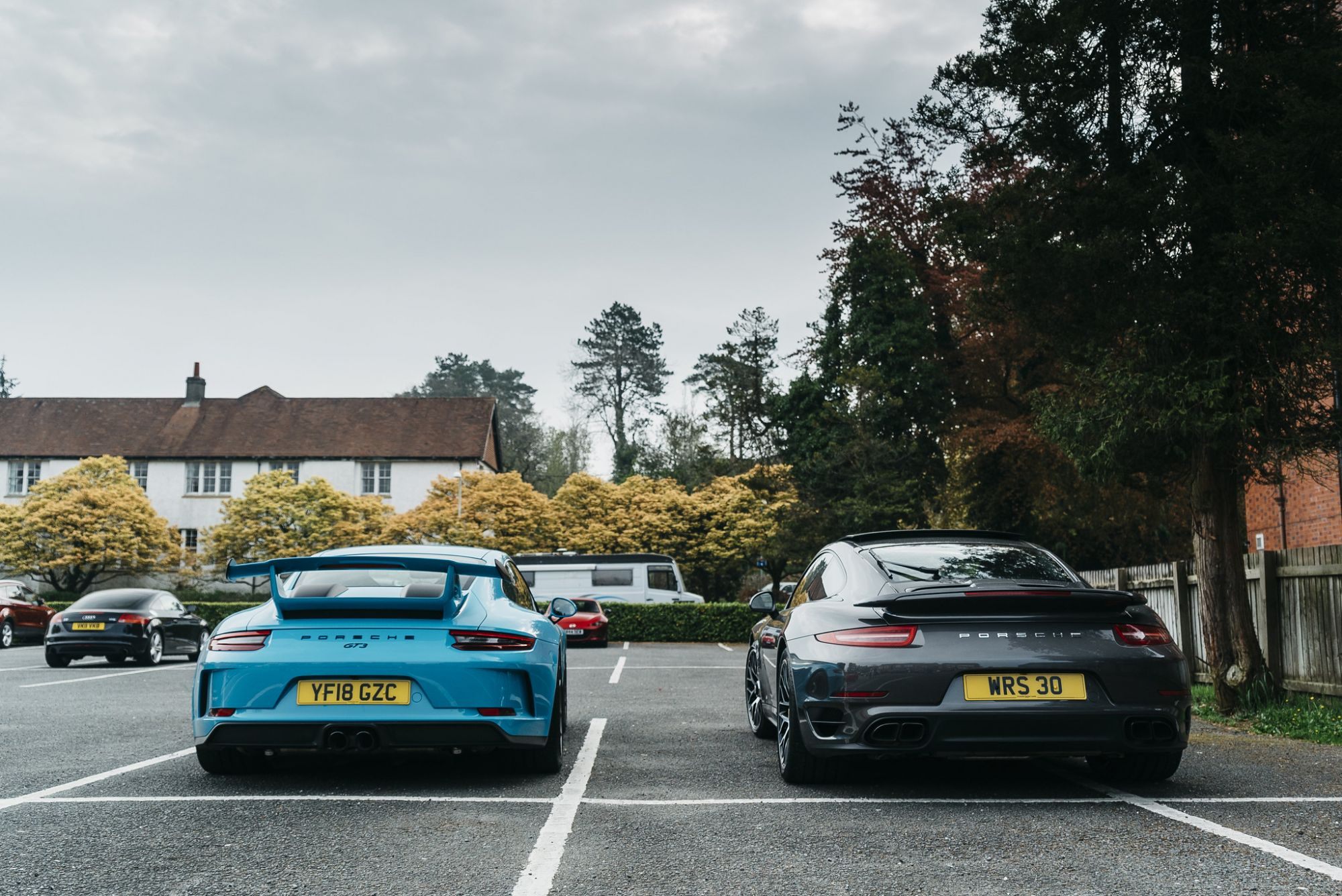 PORSCHE AND ANOTHER PORSCHE GT3 AND 911 TURBO S